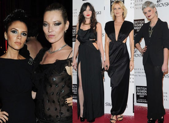 Photos and Winners from the British Fashion Awards 2009 including Victoria Beckham, Kate Moss, Daisy Lowe, James Corden,