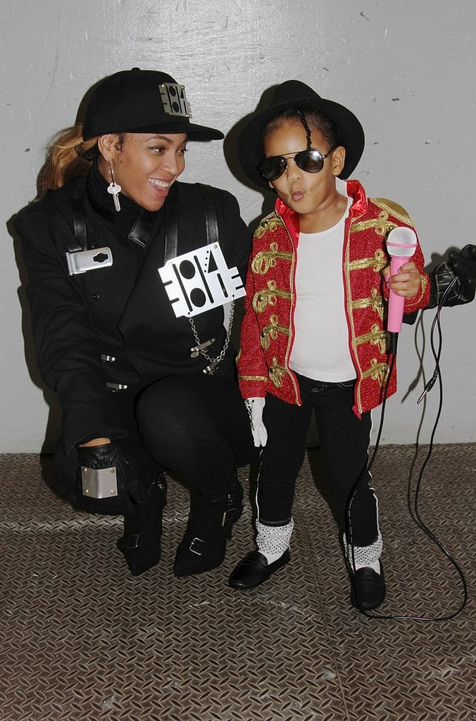Beyoncé Knowles and Blue Ivy Carter as Janet and Michael Jackson in 2014