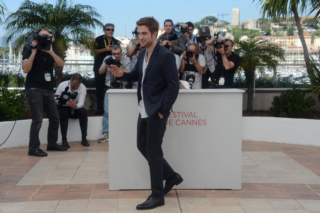 Robert Pattinson attended the Cosmopolis photocall in Cannes.