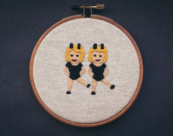 Dancers Emoji Four-Inch Wall Hanging ($70)