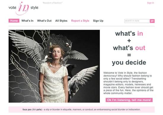 Fab Site: VoteInStyle.com