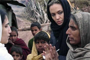 Photos of Video of Angelina Jolie in Afghanistan and Review of Changeling