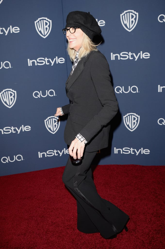 Diane Keaton made her way inside the afterparty.