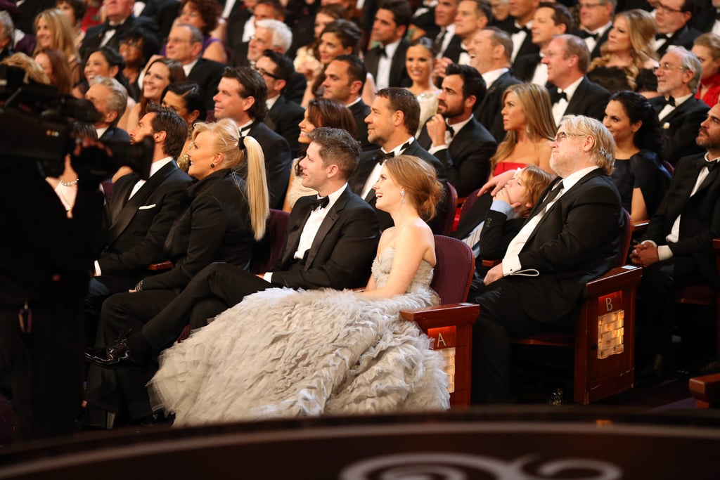 Celebrities watched on at the 2013 Oscars.