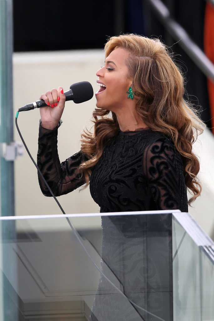 Earlier this month, Beyoncé sang the national anthem at the presidential inauguration and stirred up controversy when it was revealed that she actually lip-synched to a pre-recorded track. The drama caused some to question whether she'd actually perform live during the Super Bowl.