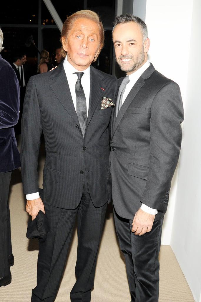 Valentino Garavani and Francisco Costa at the CFDA/Vogue Fashion Fund Awards.