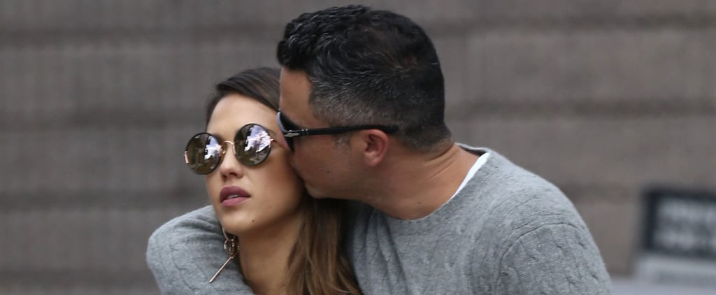 Jessica Alba and Cash Warren Share Sweet PDA on the Streets of Aspen