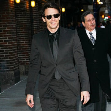 Pictures of James Franco Arriving to Tape an Interview on The Late Show
