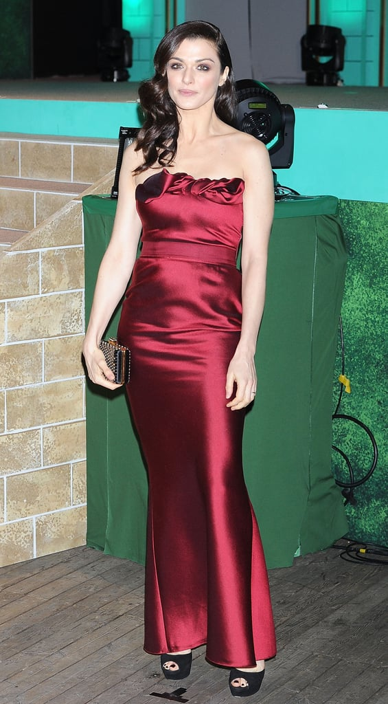 At the Japan premiere of Oz the Great and Powerful, Rachel looked rich in a deep-red strapless Lanvin gown.