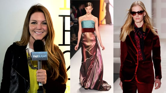 2011 Fall New York Fashion Week: Velvet Trend at Tory Burch, Marc Jacobs, Jenni Kayne