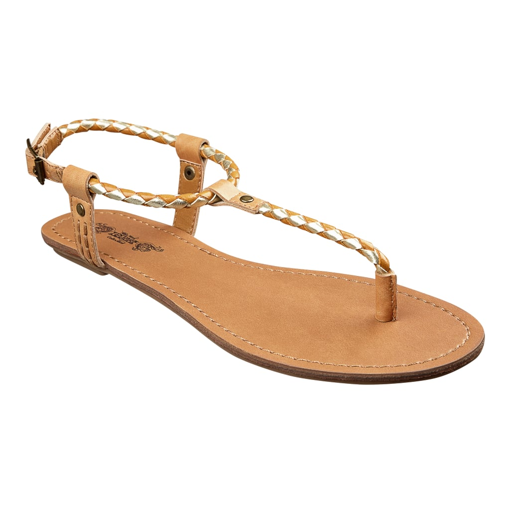 Skinny straps in a natural hue are the closest you can get to actually being barefoot. Try on these Nine West thongs ($49) and see for yourself.