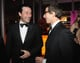 Jon Hamm got the giggles while chatting with Andy Samberg.