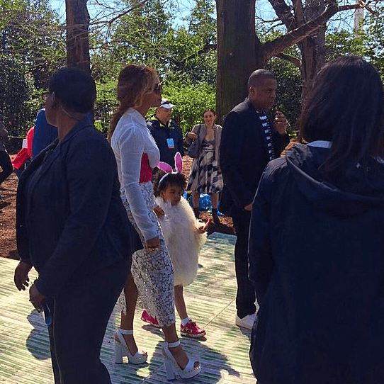 Beyonce and Blue Ivy at White House Easter Egg Roll 2016