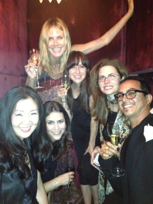 Heidi Klum celebrated her birthday with a group of friends. Source: Twitter user heidiklum