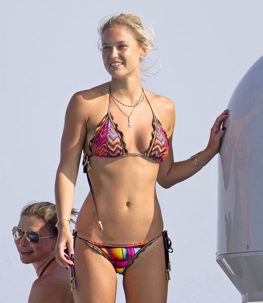 Bar Refaeli showed off her bikini body.