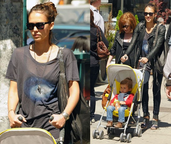 Pictures of Jessica Alba And Honor Warren Together Walking in NYC