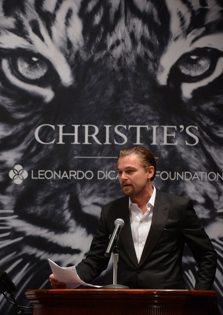 Leonardo DiCaprio co-hosted an art auction with NYC's Christie's to benefit his foundation.