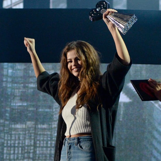 Selena Gomez Wearing Jeans at the IHeartRadio Awards 2016
