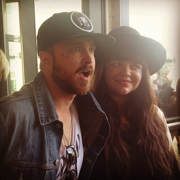 We caught Breaking Bad's Aaron Paul getting his face painted at the MAC Cosmetics party. When in Rome! Source: Instagram user POPSUGARBeauty