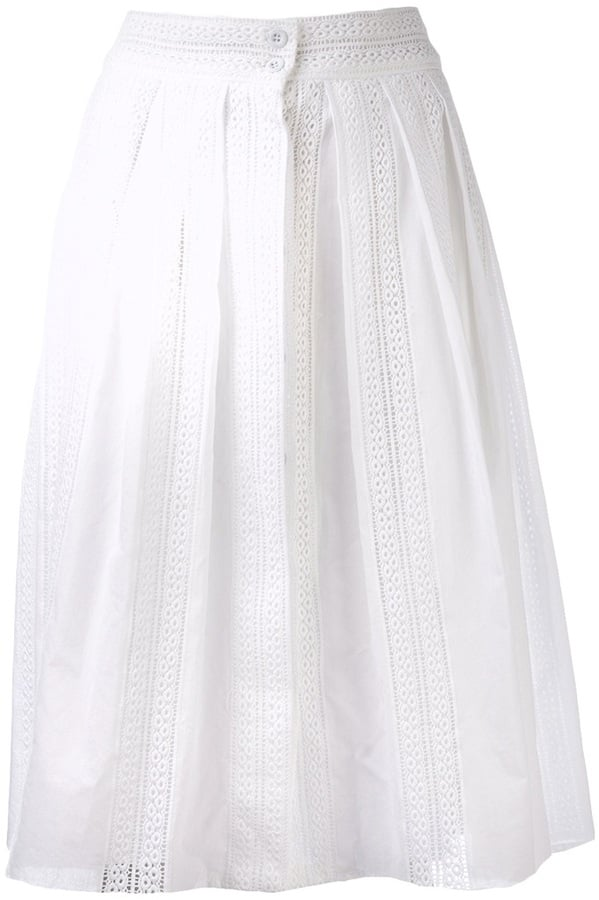 Sea White Full Skirt