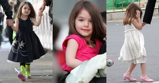 Suri Cruise Goes Sleeveless and Sweaterless in Cold Weather
