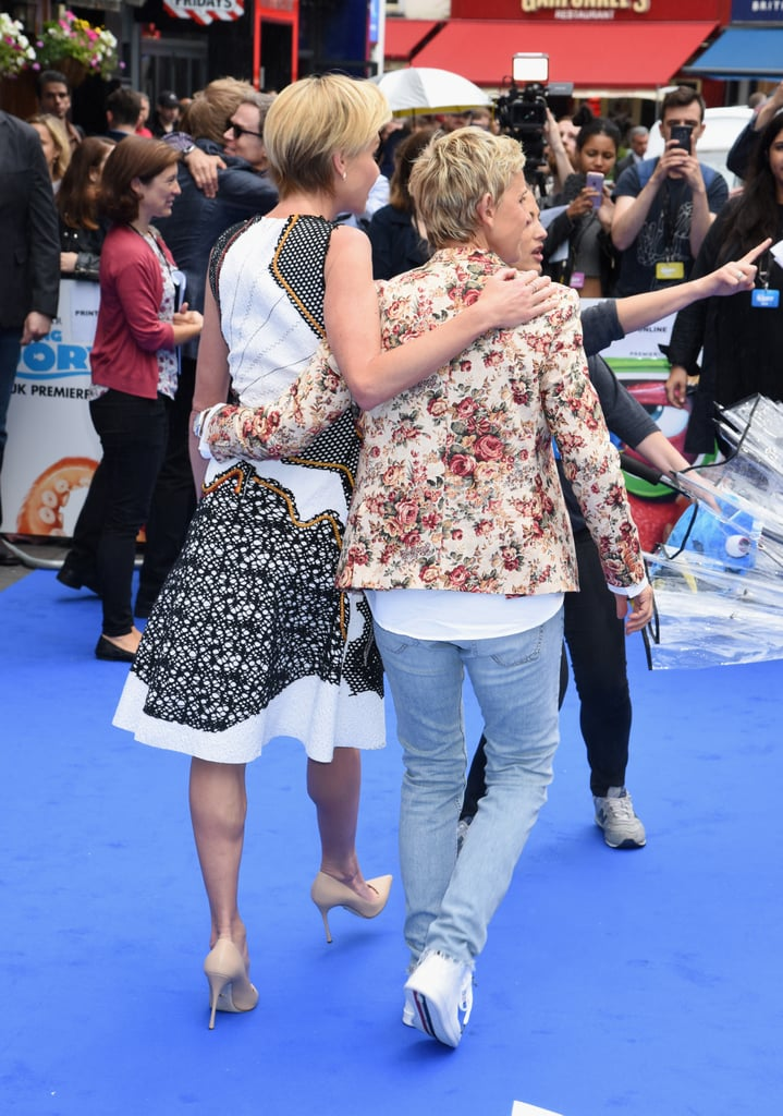 The couple held on tight in July 2016 while attending the premiere of Finding Dory in London.