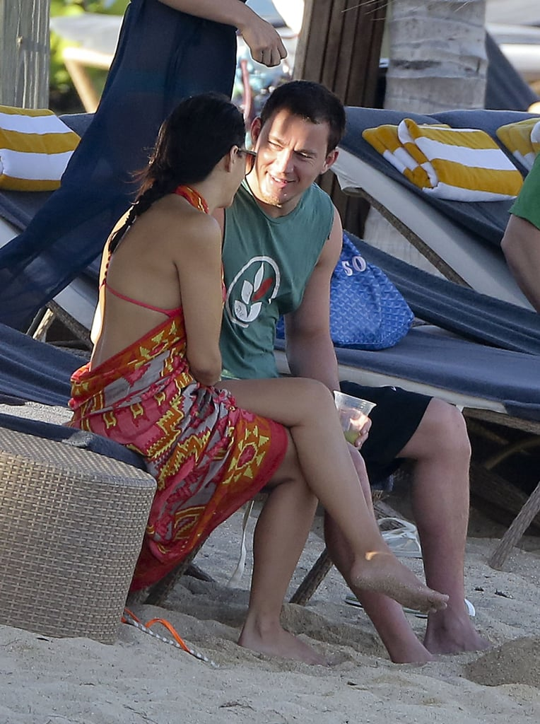 Channing Tatum and Jenna Dewan chatted on vacation.