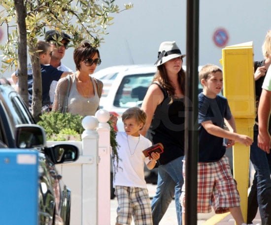 Photo Slide of David and Victoria Beckham Leaving France with Their Sons Cruz, Romeo and Brooklyn