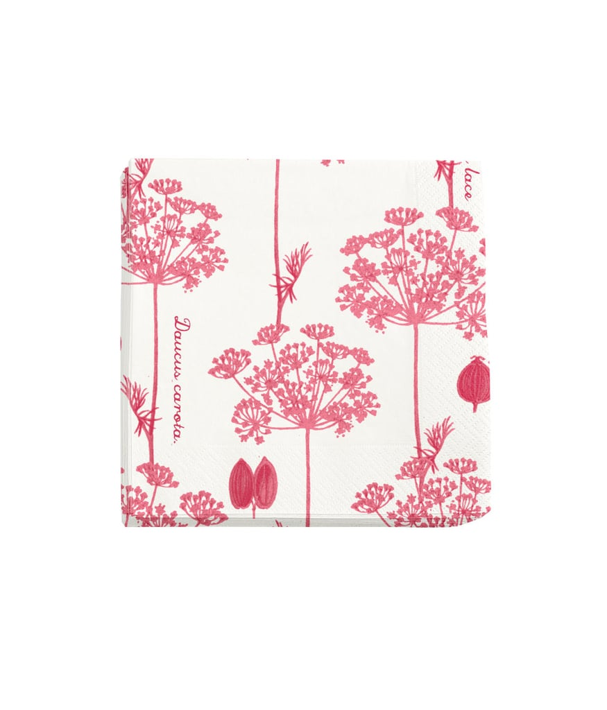 These floral napkins ($3) are an outdoor-entertaining essential.