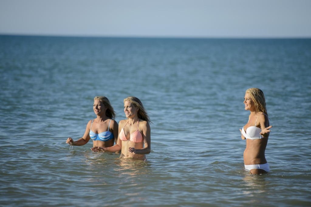 Bachelor babes at the beach: Anna, Katherine and Ali.