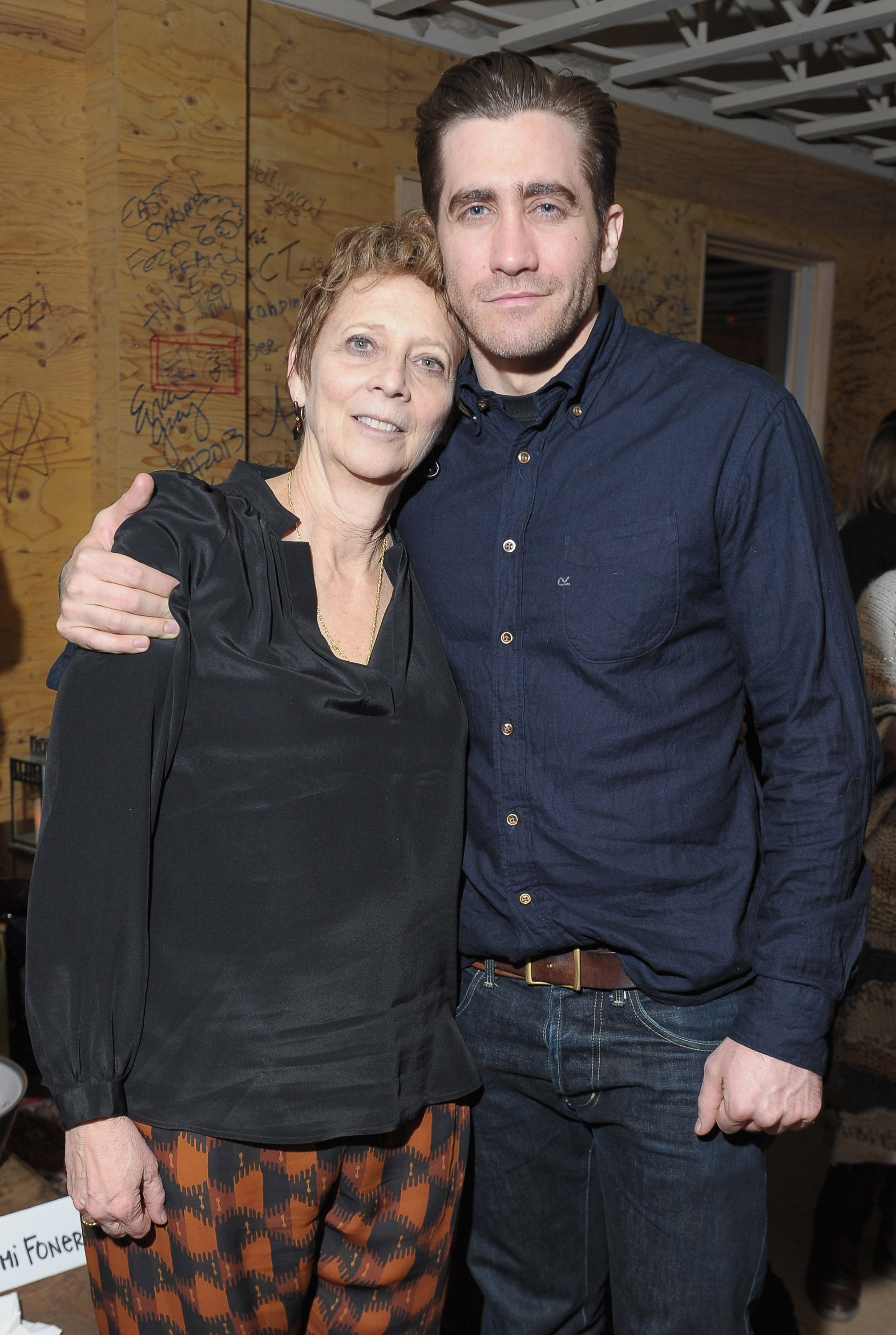 Jake Gyllenhaal hung out with his mom, Naomi Foner, at the afterparty for Very Good Girls in 2013.