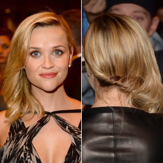 Reese Witherspoon Sideswept Mid Length Hairstyle