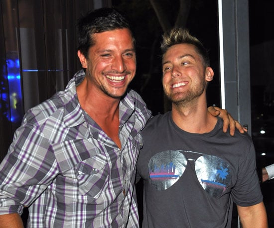 Photo Slide of Simon Rex and Lance Bass at a Viewing Party For Simon's New Show, Rex