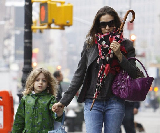 Photo of Sarah Jessica Parker and James Wilkie Going to School in NYC