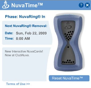 NuvaTime Reminds You When to Change Your NuvaRing!