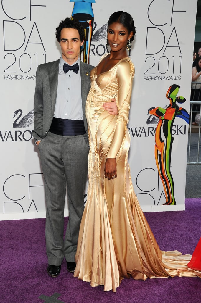 Zac Posen with Sessilee Lopez in his design