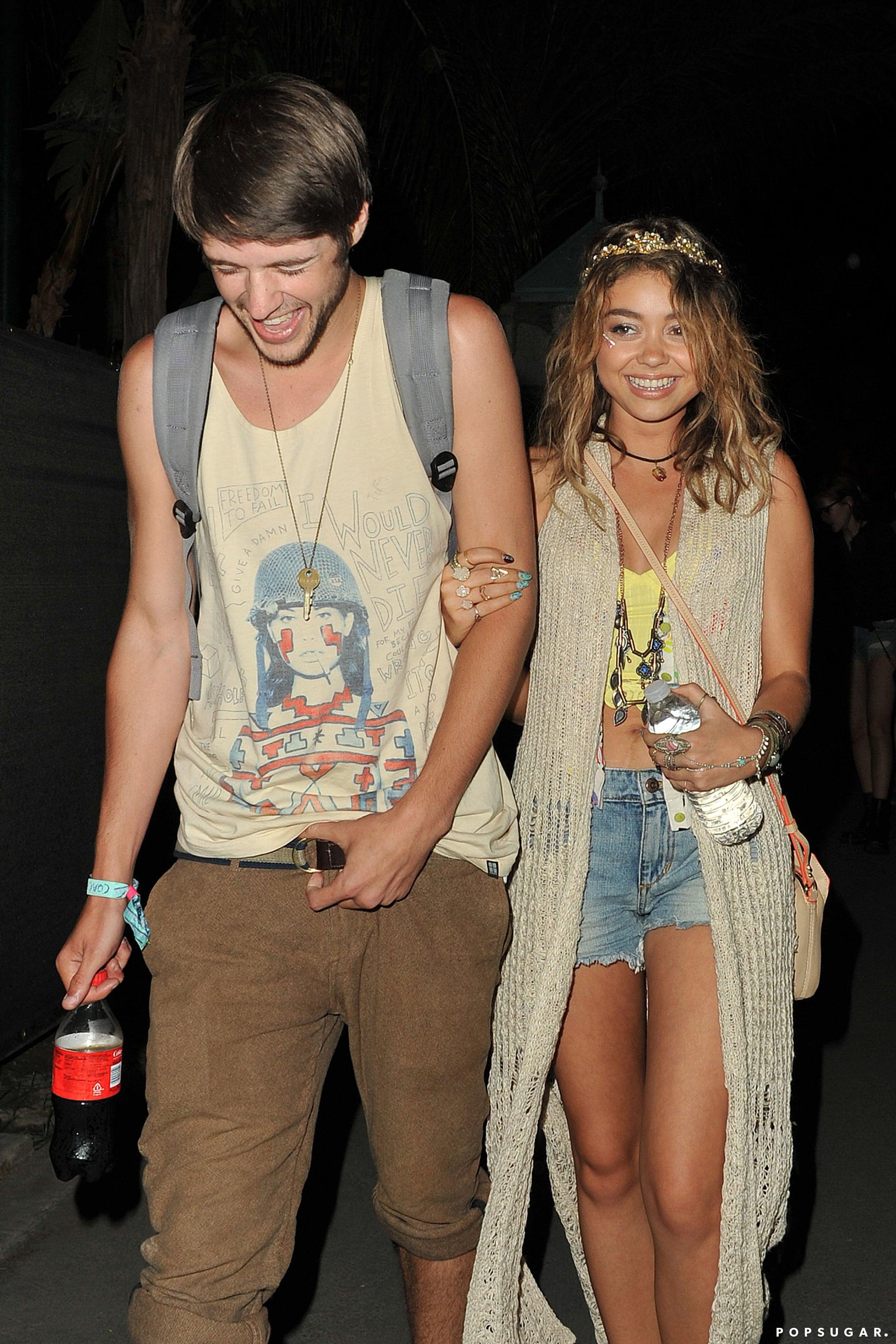 Sarah Hyland laughed with her boyfriend, Matt Prokop.
