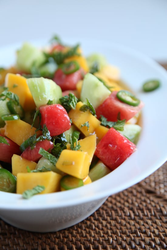 Mango Cucumber Watermelon Salad