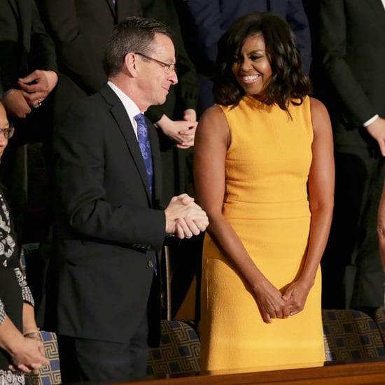 Michelle Obama Steals The Show In Narciso Rodriguez Dress