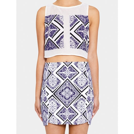 I'm into printed sets at the moment and I think it would be cool to try a matching top-and-skirt combo instead of a dress for a work Christmas party. It's fun, fresh and youthful, which suits our hot holiday climate. — Jess, PopSugar editor  Top, $99.95, Maurie & Eve at Green with Envy and skirt, $139.95, Maurie & Eve at Green with Envy