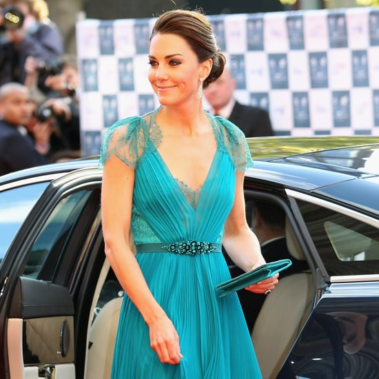 Kate Middleton in Lace Backless Jenny Packham Gown Pictures