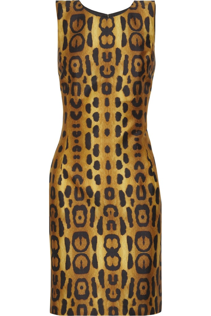 Oscar de la Renta for The Outnet leopard silk dress