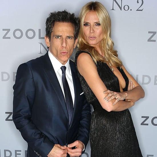 Heidi Klum and Ben Stiller at Zoolander 2 Screening