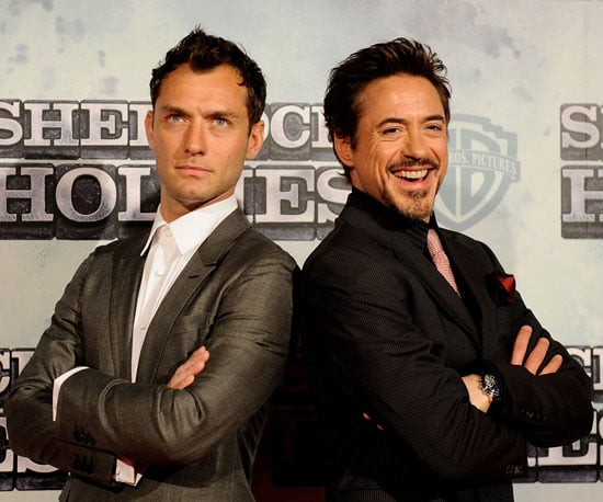Slide Photo of Jude Law and Robert Downey Jr at Sherlock Holmes