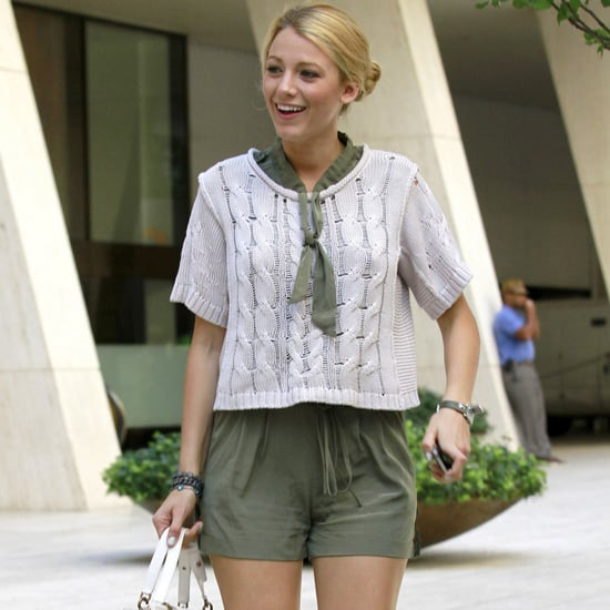 Blake Lively, Leighton Meester on Gossip Girl Set Pictures