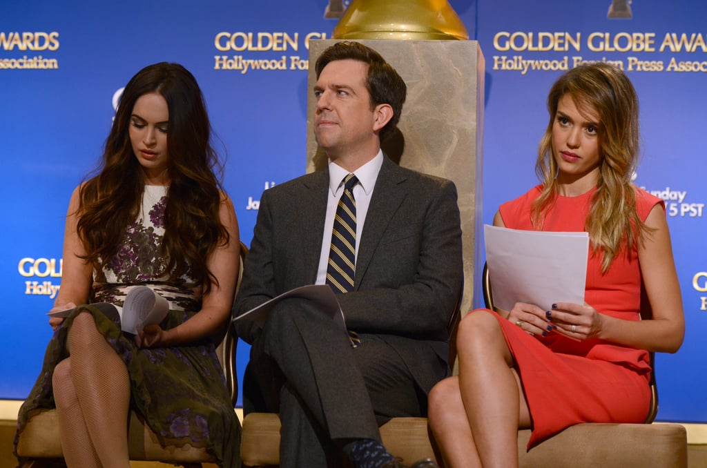 Megan Fix, Ed Helms and Jessica Alba stepped out for the Golden Globe Awards Nominations in LA.