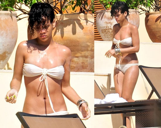 Bikini Photos of Rihanna in Mexico After Being Assaulted By Chris Brown