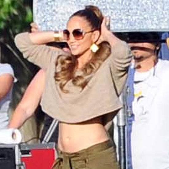 Jennifer Lopez wore a belly shirt in Argentina.