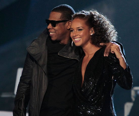 Slide Photo of Jay-Z and Alicia Keys at Brit Awards