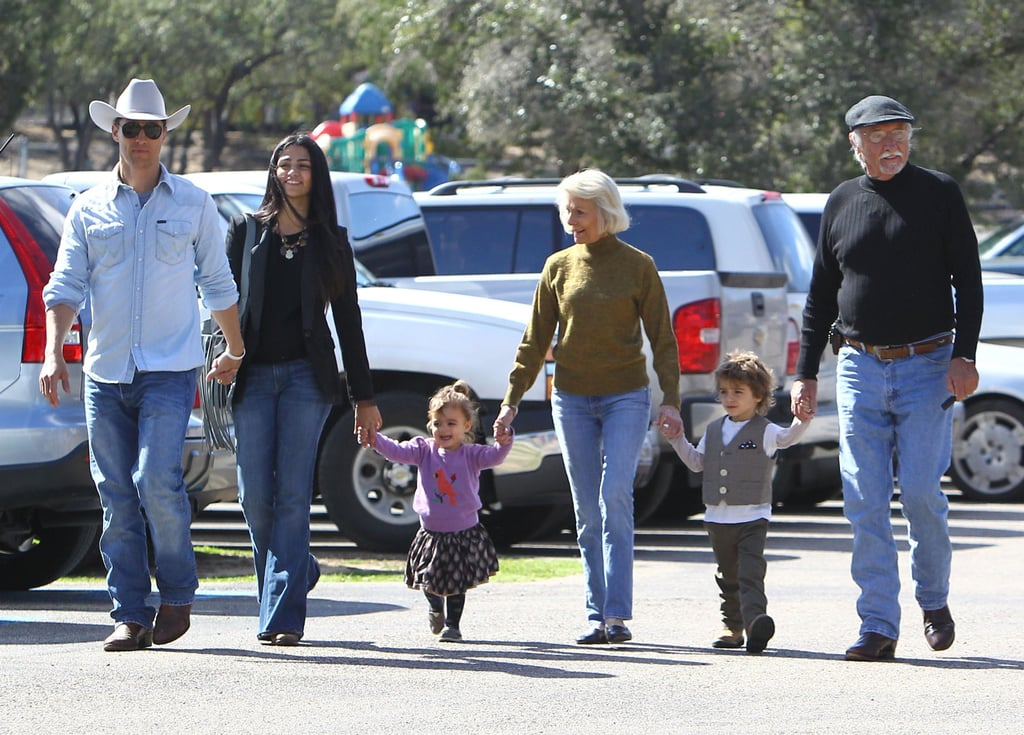 Matthew McConaughey and Camila Alves went to church in LA with family, including little ones Levi and Vida.